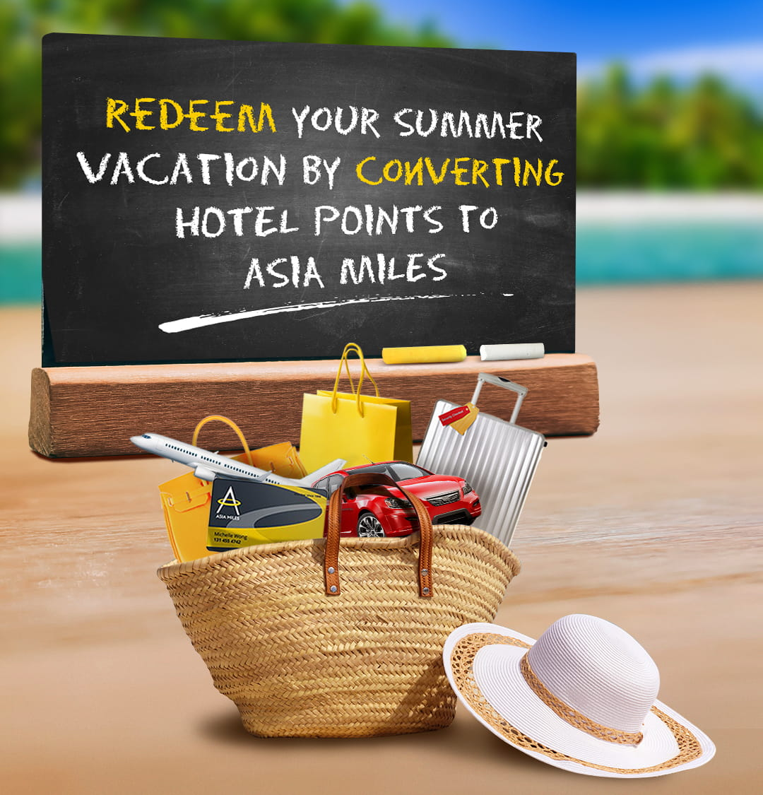 Redeem your summer vacation by converting hotel points to Asia Miles